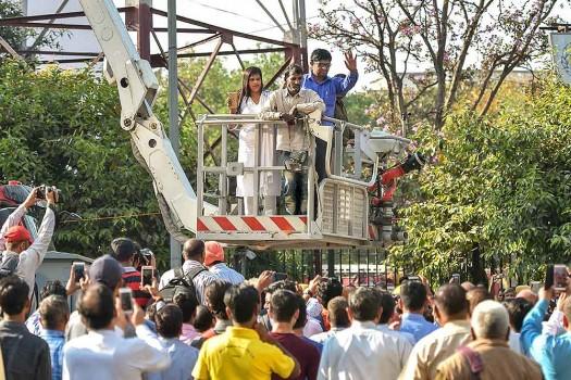 Tower Crane Rescue Procedure : Rescue operation latest news on