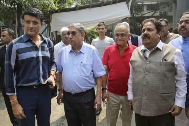Outlook India Photo Gallery - Flanked By BCCI's 'Old Guard', Sourav Ganguly Files Nomination Papers For President's Post