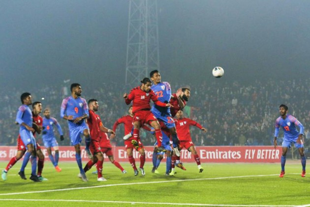 Outlook India Photo Gallery - 2022 FIFA World Cup Qualifier: Seiminlen Doungel Salvages A Point For India Vs Afghanistan