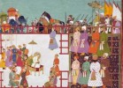 Fragment from Asian Art Museum: Mughal Empoeror Aurangzeb holding darbar in camp, around 1700