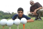 Putter pater: S.M.S. Sandhu spends Rs 10 lakh a year to keep son Ajeetesh teeing off