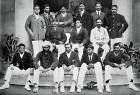Baloo (2nd row, second from left) among the Maharaja of Natore XI, 1906-7