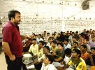 Anand Kumar taking a class at the Ramanujam School of Mathematics, Patna