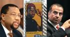 Phuthuma Nhelko, CEO of MTN; an MTN billboard in Lagos and Bharti's Sunil Mittal