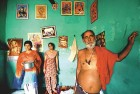 Bhushan Lal Pandit with his family at Mishriwala camp