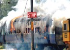 Rift valley: A train is set afire by Dalit protesters in Jalandhar