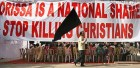 Christians protest against attacks on their community in Orissa
