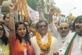 Romesh Sharma, the notorious 'pimp', campaigning for the Congress during the '99 elections