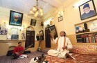 Iqbal Ahmad Khan (right) and Saeed Zafar Khan doing riyaz at Mausiki Manzil in Old Delhi