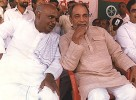 Old mistake: Deve Gowda with Hegde