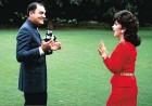 Gina with Rajiv Gandhi soon after he became prime minister