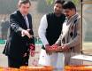 Brown at the Raj Ghat on his last visit in '07