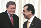 Leaning in: Richard Holbrooke with Pakistan PM Gilani in Islamabad