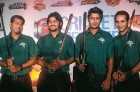 Four Bangladeshi players at the unveiling of ICL's Dhaka Warriors in Delhi, Sep 16