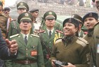 Indian and Chinese soldiers at the opening of the Nathu La Pass
