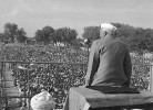 Brimmeth over Nehru at a post-Independence election rally