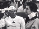 Solitary man: Nehru with daughter Indira