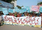 Hindu supporters of Jamaat-ud-Dawa protest against the ban in Sindh