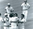 Last wicket: First moments of victory, now framed in gold