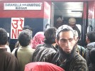 Rapid action: The scene at Anantnag station; the rail link is among the few things New Delhi has got right