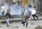 Stone cold: Kashmiri young 'uns hurl away at security personnel in Srinagar