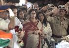Kavita Karkare at the funeral
