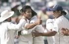 No. 600: Kumble exults after dismissing Andrew Symonds in the Perth Test
