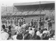 London 1948 - Opening ceremony at the stadium of Wembley: March-in of the Indian delegation.