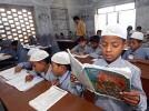 Of Sanskriti: Class 7 student Hishamuddin reads out from a Sanskrit text at Jaunpur's Madrassa Anwarul-Islam Salfia