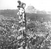 The turn-up was huge at the Mahatma's funeral in Delhi on Jan 31, 1948. A sea of topis and cotton saris—white, not black, was the dominant colour.