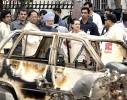 PM Manmohan Singh, Sonia Gandhi and Assam CM Tarun Gogoi at a blast site