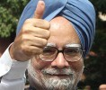 Thumbs up: PM Manmohan Singh