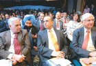Mood swing: Sunil Bharti Mittal looks on as Ranbaxy's Malvinder Singh exults on hearing of concessions to the pharma sector