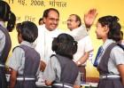 Social studies: Chauhan with schoolgirls
