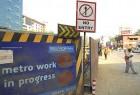 Yellow light: Metro work in Versova