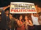 On target? Mumbaikars at a vigil after the terror attack