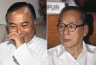 Former Congress CM Rishang Keishing (left) and Radhabinod Koijam (right)