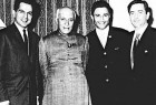 Dilip Kumar, Dev Anand and Raj Kapoor with Jawaharlal Nehru