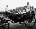 Nehru and the Mountbattens in Delhi on August 15, 1947