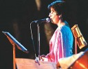 Nirupama Rao performing at a western contemporary music festival, 'Summertime',  at the India International Centre in Delhi on May 31, 2003