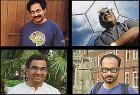 Top row (left to right): Vilayanur S. Ramachandran, C.N.R. Rao; Bottom row (left to right): Shrinivas Kulkarni, Ashoke Sen