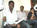 Ojugbeli, Hayat and Tanya after the arrest