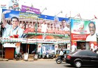 Side by side: Congress, CPI(M) hoardings in Thiruvananthapuram