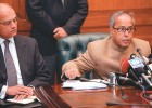 Evidence so far: Foreign minister Pranab Mukherjee addresses the press after handing over the dossier to Pakistan