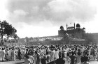 Aug 15, 10 am: Crowds at Red Fort just after the Tiranga went up for the first time