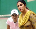 Also going: Sania Mirza's mother Nasima is the tennis team manager