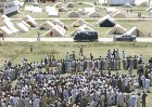 Refugees from Swat at a camp in Mardan, Pakistan