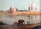 One of the first Taj paintings by landscape artists Thomas and William Daniell in 1801