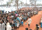 In the line: Tamil refugees at a camp for the displaced in Manic Farm, Vavuniya