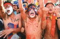 Red with rage: Tibetan exiles protest at Dharamshala, close to where the Dalai Lama lives